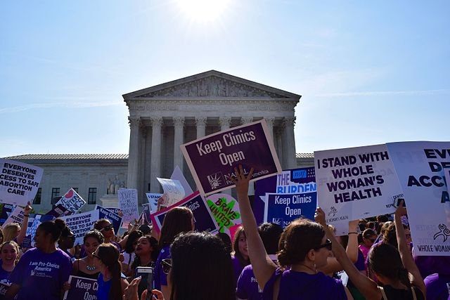 Picture of a pro-choice demonstration - 2019. from: PWCD - reproductive health and rights.