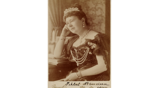 Black and white photograph of Lady Aberdeen. from PWCD - Maternal Feminism