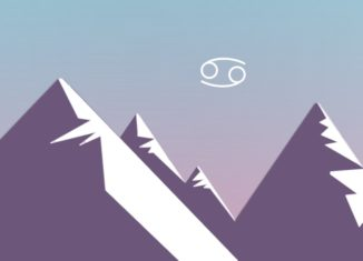 Illustration of a computerized - looking mountainscape. from: PWCD - Maternal Feminism