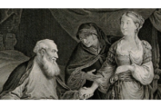 Black and white print of a Baroque - style painting. from: PWCD -